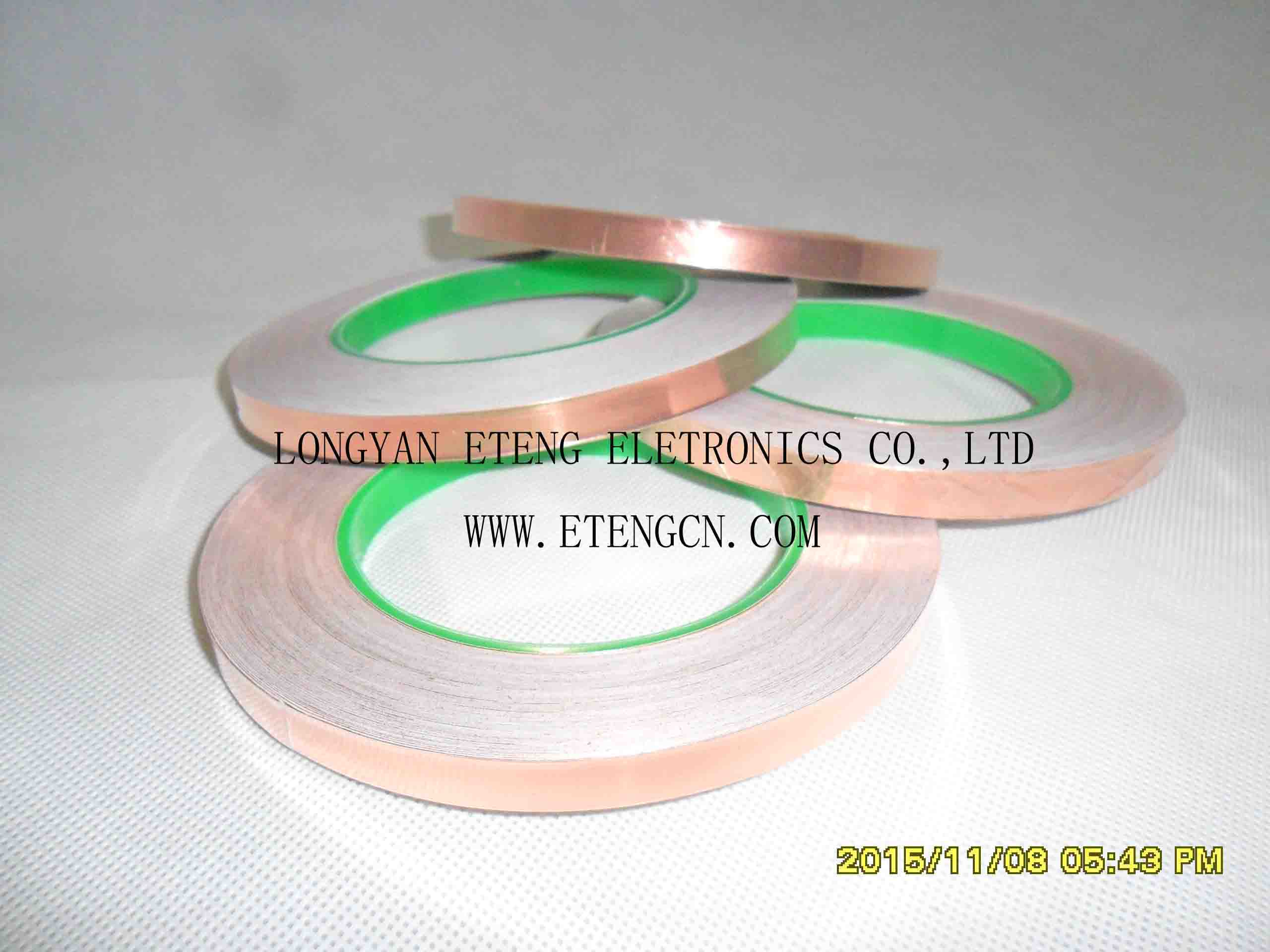 copper foil with backing adhesive